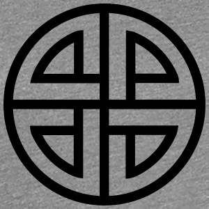 Celtic Shield Knot, Germanic, Protection, Amulet, T-shirts - Premium-T-shirt dam