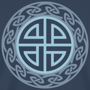 Celtic Shield Knot, Protection, Four Corner, Norse T-Shirts - Men's Premium T-Shirt