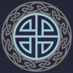 Celtic Shield Knot, Protection, Four Corner, Norse T-shirts - Organic mænd