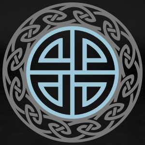 Celtic Shield Knot, Protection, Four Corner, Norse T-shirts - Dame premium T-shirt