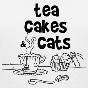 Tea cakes and cats Tee shirts - T-shirt col V Femme