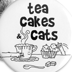 Tea cakes and cats Badges - Badge grand 56 mm