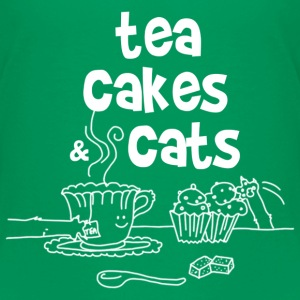 Tea cakes and cats Tee shirts - T-shirt Premium Enfant