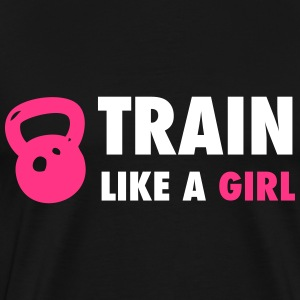 Train Like A Girl  - Men's Premium T-Shirt