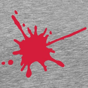 blood splatter 1c T-Shirts - Men's Premium T-Shirt