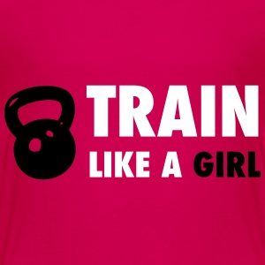 Train Like A Girl - Kids' Premium T-Shirt