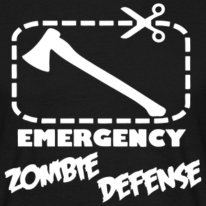 Emergency Zombie Defense T-shirts - T-shirt herr