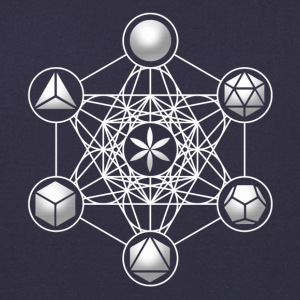 Metatrons Cube, Platonic Solids, Sacred Geometry Gensere - Genser for menn