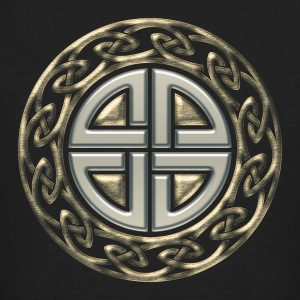 Celtic shield knot, Protection Amulet, Viking Camisetas - Camiseta ecológica hombre