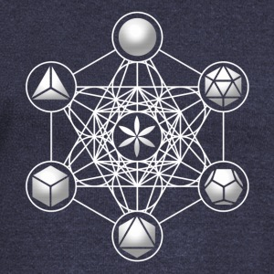 Metatrons Cube, Platonic Solids, Sacred Geometry Hoodies & Sweatshirts - Women's Boat Neck Long Sleeve Top
