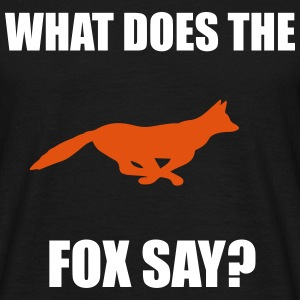 Fox Say T-shirts - Mannen T-shirt