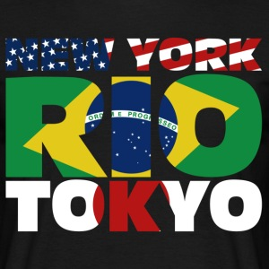 New York Rio Tokyo Tee shirts - T-shirt Homme
