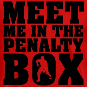 Meet me in the penalty Box T-skjorter - Premium T-skjorte for menn