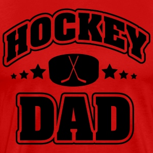 Hockey Dad T-skjorter - Premium T-skjorte for menn