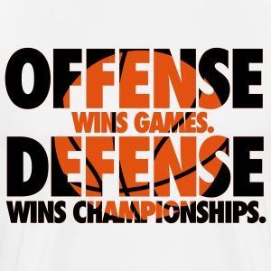 Offense wins games. Defense wins championships T-shirts - Herre premium T-shirt