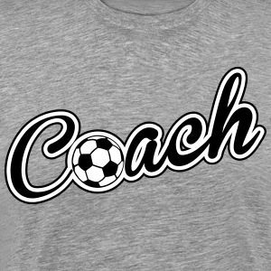 Coach: Soccer, Football T-shirts - Mannen Premium T-shirt