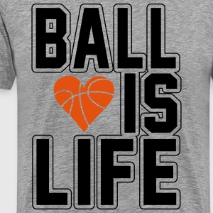 Basketball is life Tee shirts - T-shirt Premium Homme