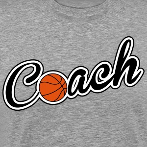 Basketball: Coach T-shirts - Mannen Premium T-shirt