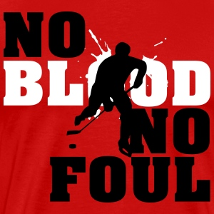 Hockey: No blood no foul T-skjorter - Premium T-skjorte for menn
