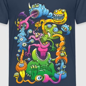 Monstrously Messy Shirts - Kids' Premium T-Shirt