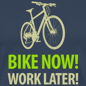 bike now work later Fahrrad Adventure T-Shirts - Männer Premium T-Shirt
