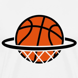 Basketball T-Shirts Ball Korb Fitness Dunk Dunking - Männer Premium T-Shirt
