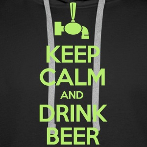 Keep calm and drink beer Sweat-shirts - Sweat-shirt à capuche Premium pour hommes