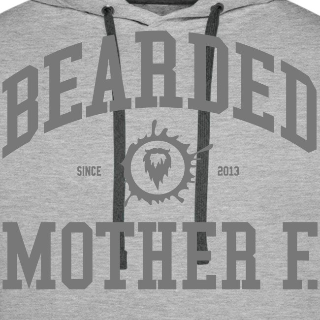 Bearded Mother F. - Men's Hoodie (Grey print)