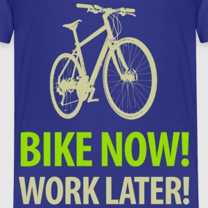 Kindershirt Bike now! Work later! - Kinder Premium T-Shirt