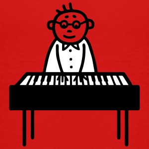 Pianist - klaver - V2 T-shirts - Teenager premium T-shirt