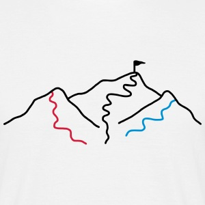 Blue red black slopes - V3 T-Shirts - Men's T-Shirt