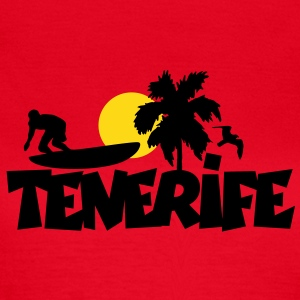 Tenerife Surfer T-Shirt (Women/Red) - Women's T-Shirt