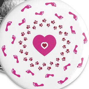 I love my dog Buttons & Anstecker - Buttons groß 56 mm