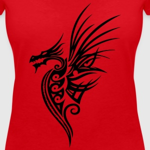 Drache, dragon, fantasy T-Shirts - Women's V-Neck T-Shirt