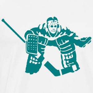hockey goalkeeper T-shirts - Herre premium T-shirt