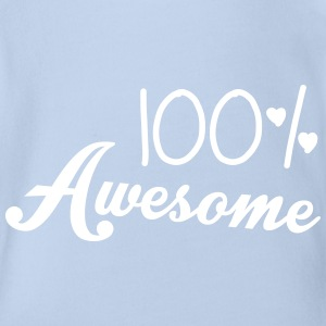 100% Awesome Shirts - Organic Short-sleeved Baby Bodysuit