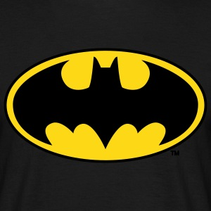 Batman logo gul T-skjorte for menn - T-skjorte for menn