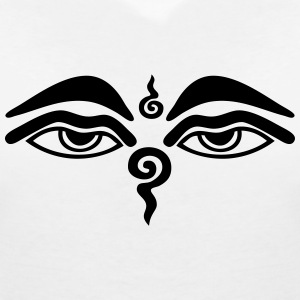 Buddha Eyes T-Shirts - Women's V-Neck T-Shirt