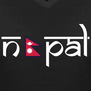 Nepal  T-Shirts - Women's V-Neck T-Shirt