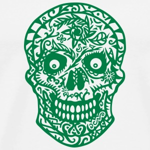 mexican skull flowers T-Shirts - Men's Premium T-Shirt