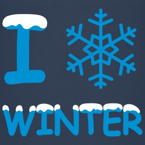 I love winter Schneeflocke T-Shirts - Kinder Premium T-Shirt