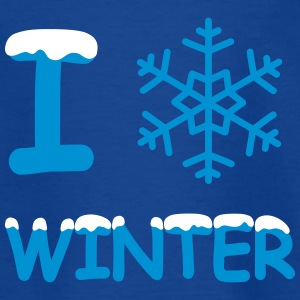 I love winter Schneeflocke T-Shirts - Kinder T-Shirt