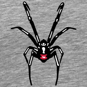 Black widow spin T-shirts - Mannen Premium T-shirt