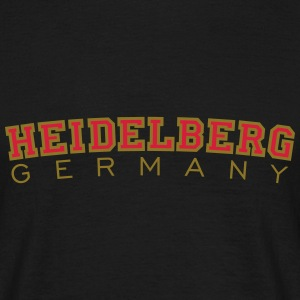 Heidelberg Germany Red/Gold T-Shirts - Men's T-Shirt