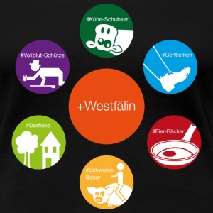 Westfälin plus T-Shirts - Frauen Premium T-Shirt