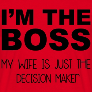 I'm The Boss T-shirts - Herre-T-shirt
