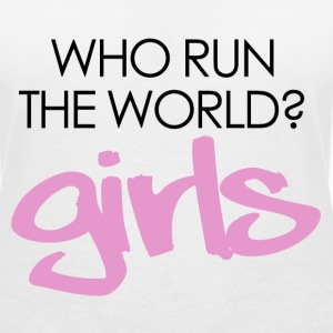 Who run the world? girls T-Shirts - Women's V-Neck T-Shirt