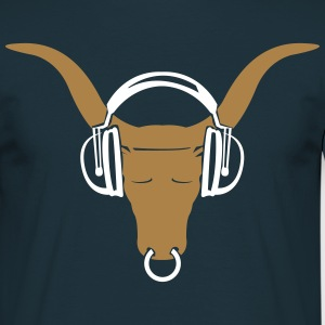 Buffalo head with headphones  T-Shirts - Men's T-Shirt