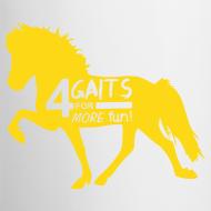 Motiv ~ Tasse 4 Gaits gelb