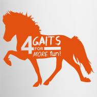 Motiv ~ Tasse 4 Gaits orange